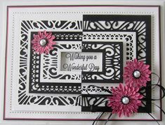 PartiCraft (Participate In Craft September 2016 Die Release Indian Ocean Collection - Background Sue Wilson Dies, Spellbinders Cards, Birthday Cards For Women, Paper Crafts, Diy Crafts, Positive And Negative, I Card, Your Cards, Card Making