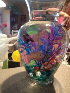 Pet Supplies Medium Fish Hand Blown Glass Betta Siamese Fighter Bowl Free Crystal Stones Aquariums & Tanks Easy To Repair