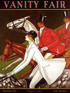 1924 Vanity Fair magazine cover-fox hunters, fox hunting poster, Art Deco horses SALE on Etsy, $24.99