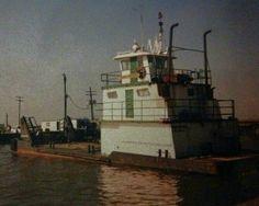 My first regular boat M/V Sabine Services - a 100 ton 1200 horsepower triple screw Lugger tug.