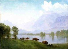 Albert Bierstadt (1830-1902): Buffalo Country