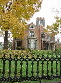 The Castle, Historic Homes of Marietta, Ohio one of the best examples of Gothic Revival style architecture in Ohio
