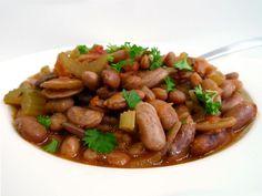 Een+fijn+gerecht+met+borlottibonen,+ook+wel+kievitsbonen+genoemd.+Stoof+de+bonen+in+een+lekkere+tomatensaus!  +|+http://degezondekok.nl