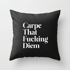 Carpe F***ing Diem cushion cover
