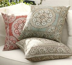 Pottery Barn Elsa Mosaic Outdoor Pillow. Even though it's an outdoor pillow, I love the pattern!