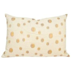 Throw Pillow Sham in Cream with Dots ($60) ❤ liked on Polyvore featuring home, bed & bath, bedding, pillows, polka dot bedding, silk bedding, cream bedding, dot bedding and cream colored bedding