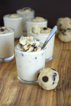 Healthy Chocolate Chip Cookie Dough Blizzard | Neurotic Mommy