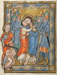 Miniatures of the life of Christ, 1175, Corbie, France. Morgan Library.