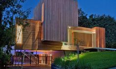 House with silvertop ash timber cladding -  Vibe Design Group - photography by Robert Hamer