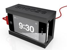 Snooze - The iPhone Alarm Dock with a Big Snooze Bar by Distil Union, via Kickstarter.