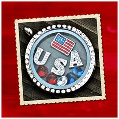Origami Owl Living Locket Personalized Jewelry July 4th. Patriotic. USA. Fourth of July.
