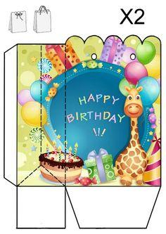 Caja-bolsa para cumpleaños