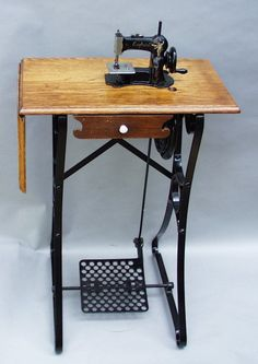 Child size treadle sewing machines were a natural extension in the evolution of the sewing machine in America.