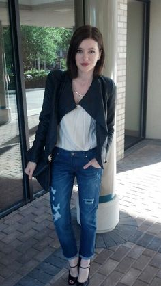 Wearing #ANTHOM Boyfriend Jeans #ootd