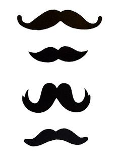 Mustache template for photo booth prop