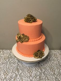 Antique Rose Cake