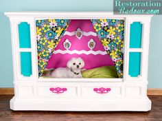 tube tv turned dog house, diy, pets animals, repurposing upcycling