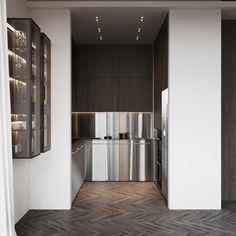 kitchen Minimalist Design, Kitchen, Interior, Modern, House, Furniture, Home Decor, Futuristic, Architects