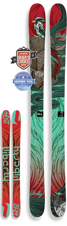 Our friend, Amy, has these. Loves them. #Bamboo - our kinda ski! http://libertyskis.com/skis/envy