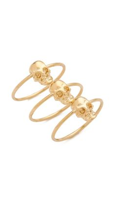 skull stackable rings / jules smith