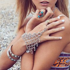 2015 june new boho GYPSY handcrafted coin slave hand chain so sexy link chain handjewelry retro choker jewelry ethnic trible