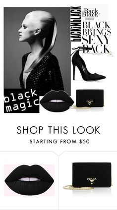 """black"" by maidabesicc ❤ liked on Polyvore featuring Prada"