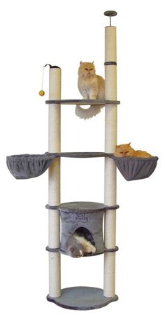 The new cat tower…. Mine is ripped to shreds lol The new cat tower…. Mine is ripped to shreds lol Cat Tree House, Cat House Diy, Crazy Cat Lady, Crazy Cats, Sisal, Cat Perch, Cat Hammock, Cat Towers, Cat Decor