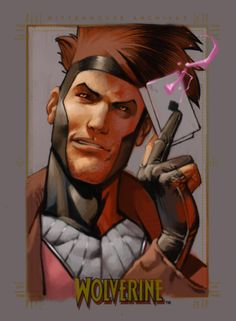 """Gambit Old like new 2 by ~andreibressan on deviantART .... great artwork but strange it says """"Wolverine"""""""