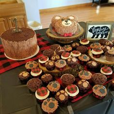 Lumberjack Birthday Party Man 30th Ideas Baby First Themes Boy 1st Parties Cupcakes