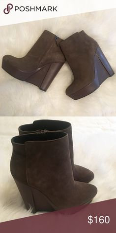 b0e1b1b4a35bf Spotted while shopping on Poshmark  HP✌🏼️Theory Bari London Suede Wedge  Bootie NWOT