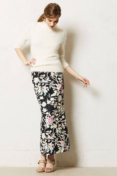 11 Way-Cool Maxi-Skirts To Get You Through Winter & Spring #refinery29. Great winter to spring skirt