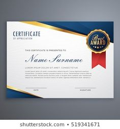 Certificate Of Recognition Template, Certificate Format, Certificate Design Template, Printable Certificates, Award Certificates, Receipt Template, Power Point Gratis, Award Names, Training