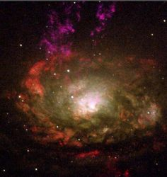 Resembling a swirling witch\u0027s cauldron of glowing vapors, the black hole-powered core of a nearby active galaxy, 13 million light-years away in the southern constellation Circinus.   REUTERS/Handout