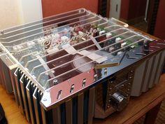 The inside of a Burmester amplifier