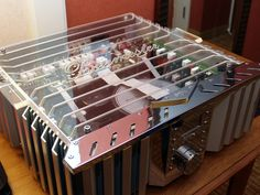 The inside of a Burmester amplifier