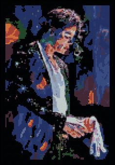 Michael Jackson's White Glove - Counted Needle Point and Cross Stitch Chart Patterns. $18.00, via Etsy.