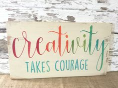 Creativity Sign  Crafting Sign  Craft Room by RiOakWesternDesign