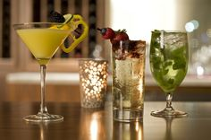 A sampling of what's available at Hyatt The Pike Long Beach's Bay Street Bar.