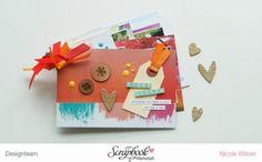 Minialbum mit dem SBW Juli Kit [Pinselstrich] ... DT Arbeit von Nicole Weber