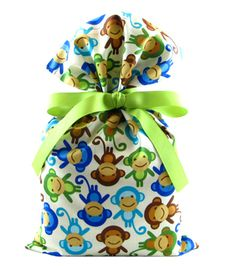 Monkeys Baby Shower Gift Bag | VZWraps