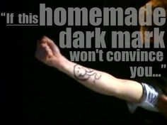 AVPM. Omg I should draw this on my arm and pretend I'm Draco!