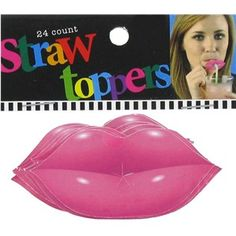 "Pucker up! Top your straws off with Pink Paper Lip Straw Toppers. These toppers are a creative way to add a splash of fun to straws at parties and events. Be a diva!    	     	Dimensions:    	  		Length: 2 3/4""  	  		Width: 1 1/4""      	     	Each package contains 24 toppers."