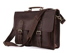 Handcrafted Leather Briefcase / Messenger / Laptop / by Heavenbag, $119.00