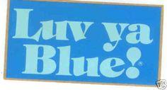 Houston Oilers Luv ya Blue  NFL Sticker Pennant