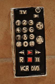 Tv remote control cake