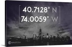 New York City Coordinates   LIMITED TIME PRODUCT - PRODUCT DISCONTINUES on MONDAY JULY 20th, 2016