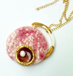 PINK PORCELAIN JEWELRY Pendant Jewelry Modern by CHRISSASHANDMADE, $24.00