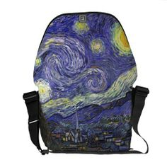 Van Gogh Starry Night, Vintage Post Impressionism Courier Bag