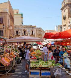Ballarò street market in Palermo, Sicily_ Italy