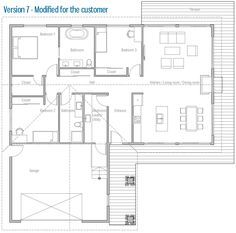 House Design Small House Ch232 40. Grundriss BungalowHaus GrundrissBungalow  GrundrisseTraumhausHAUS ...